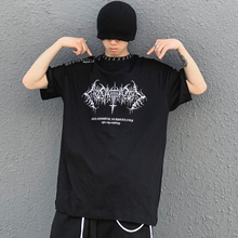 11 BYBB'S DARK Hip Hop T-Shirt Men Dark Embroidery Oversize Tshirts Summer 2021 Streetwear Cotton Harajuku Short Sleeve Shirts