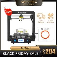 Anycubique mega s imprimante 3D mise à niveau, haute qualité, extrusion grande taille, écran tactile TFT de bureau, bon marché, Kit impressora 3d