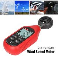 UNI T UT363 Handheld Anemometer Digital Wind Speed Measurement Temperature Tester LCD Display Air Flows Speed Wind Meter