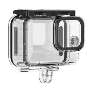 Image 5 - Mergulho 50m à prova dwaterproof água caso habitação para gopro hero 9 acessórios da câmera de ação capa protetora escudo para gopro hero9 acessórios