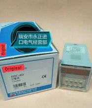 Contador H5C-4D 90-250vac 4 dígitos predefinidos contador com base novo & original