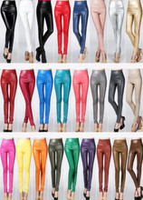New 2019 winter spring women ladies warm PU Leather pants High waist stretch female elastic Slim pencil skinny fleece trousers