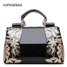 Luxury Women Handbags Crossbody-Bag Flower Doctor Patent Leather Famous European-Design
