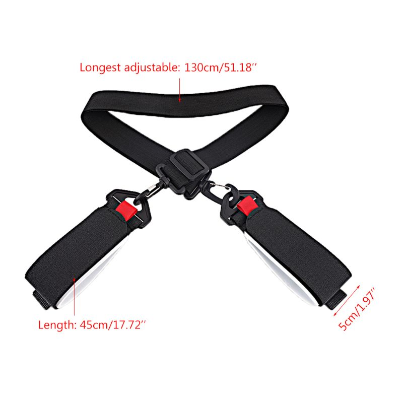 Adjustable Skiing Poles Shoulder Hand Carrier Lash Handle Straps Porter Nylon G99D