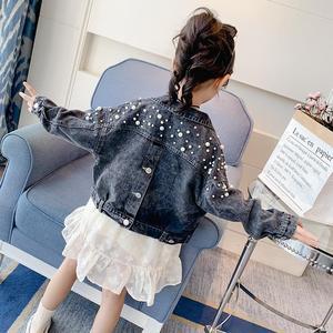 Image 2 - Benemakerジーンズジャケット子供のジャン服ウインドブレーカーベビーキッズデニムコートガール刺繍タッセル上着YJ140