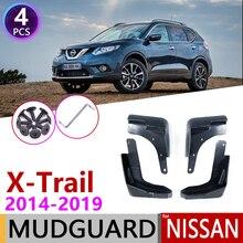for Nissan X Trail T32 2014~2019 Fender Mud Flaps Guard Mudguard Splash Flap Car Accessories 2015 2016 2017 2018 X Trail XTrail