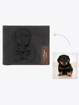 Personalized Pet Photo Men's Wallet ,Custom Photo Wallet,Personalized Photo Wallet , Custom Wallet ,Personalized Wallet  фото
