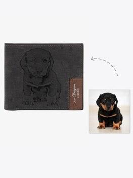 Personalized Pet Photo Men's Wallet ,Custom Photo Wallet,Personalized Photo Wallet, Custom Wallet ,Personalized Wallet фото