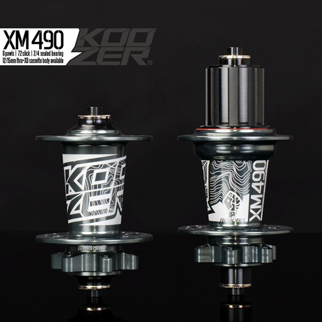 Koozer XM490 Sealed Bearing MTB Mountain Bike Hubs 32 Holes Disc Brake 9/15*100 10*135 12*142mm Thru Axle QR Bicycle Hub novatec