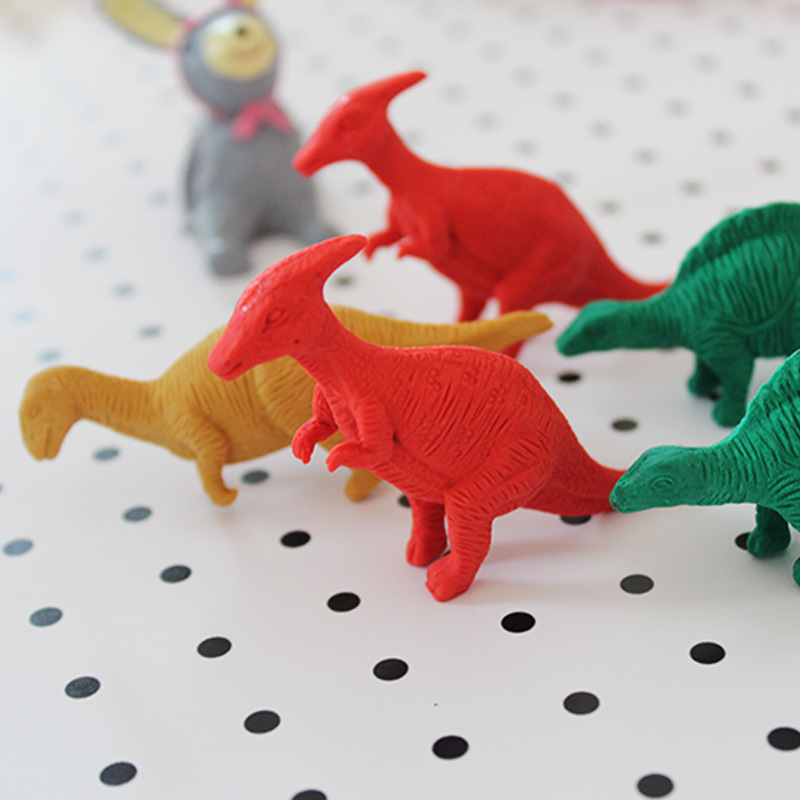 P205 Rubber New Style Cute Dinosaur Rubber Eraser Korean-style Creative Rubber CHILDREN'S DAY Students Prizes Small Rubber Erase
