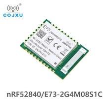 Nrf52840 ic rf módulo 2.4ghz, 8 dbm E73 2G4M08S1C ebyte longo alcance, bluetooth 5.0 nrf52 nrf52840, transmissor e recebedor