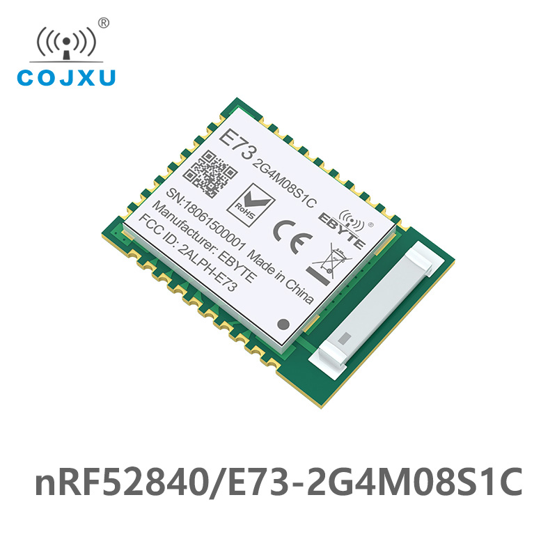 NRF52840 IC RF Module 2.4GHz 8 DBm E73-2G4M08S1C Ebyte Long Range Ebyte Bluetooth 5.0 Nrf52 Nrf52840 Transmitter And Recieever