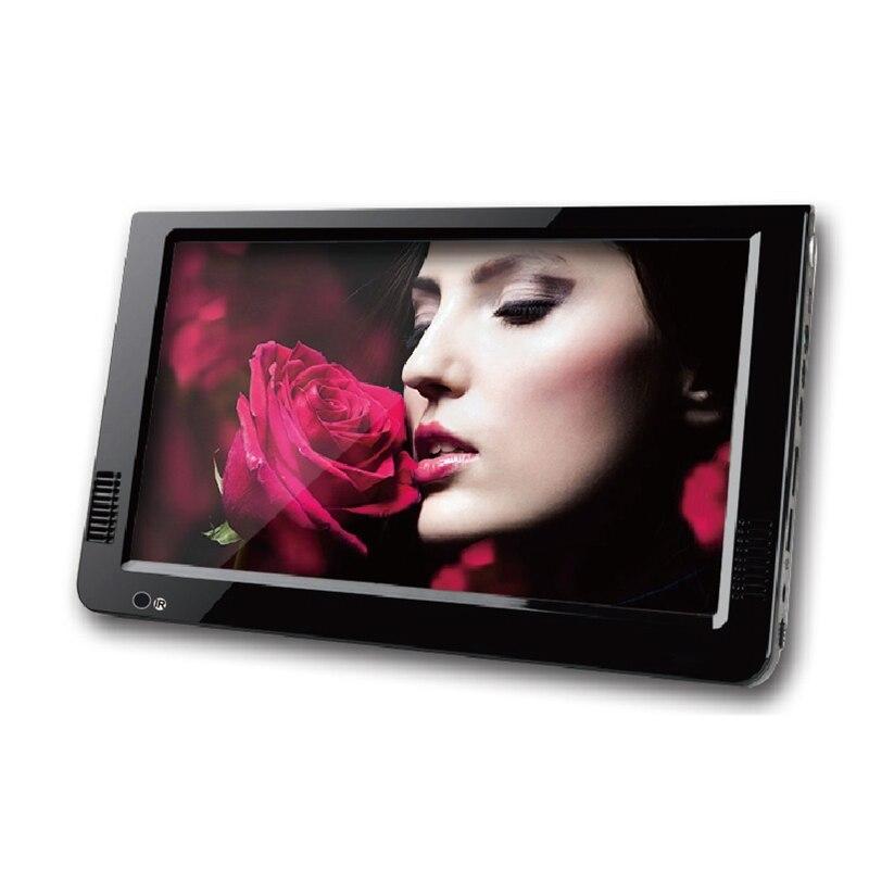 Portable 10 pouces Tft Led 1080P Hd Pvr Dvbt2 numérique analogique Mini Tv voiture Tv Support Usb Tf lecteur de carte prise Eu