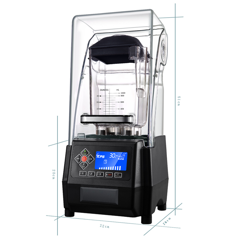 KS-10000 Smoothie Machine Silent Ice Machine Ice Crusher 2000ml Smoothie Mixer Tea Shop Commercial High Efficiency Ice Crusher