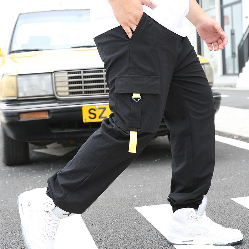 Pants Men's Plus-sized Spring And Autumn Popular Brand Bib Overall Loose And Plus-sized Athletic Pants MEN'S Trousers Casual Ank
