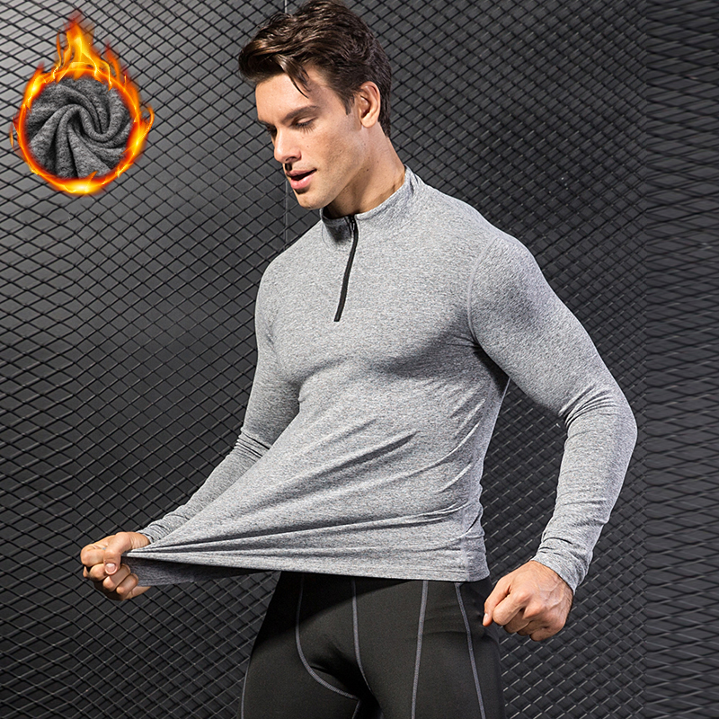 YEL New Thermal Long Sleeve Running T Shirt Men Football Jersey Sport Shirt Men 39 s Sportswear Quick Dry Men 39 s T shirts Rashgard in Running T Shirts from Sports amp Entertainment