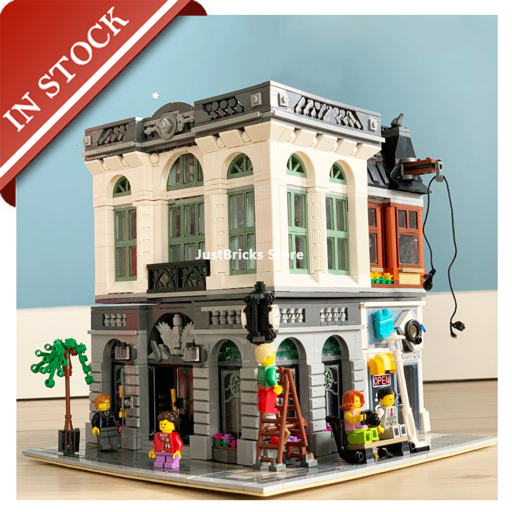 In Stock 15001 Brick Bank Street View 10251 Building Blocks 2413Pcs Creator Expert Bricks 99013 King 84001