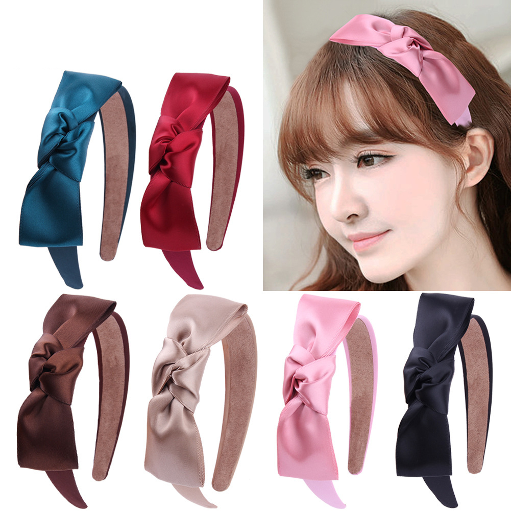 Free Shipping Fashion Solid Bow Children's Hairbands BB Girl's Headbands Lovely Basic Kid's Headwear Hair Accessories
