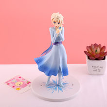 Original Disney Frozen Figure Elsa Princess Action Figures PVC Collection Model Decorations Cake Ornaments Toys Birthday Gift