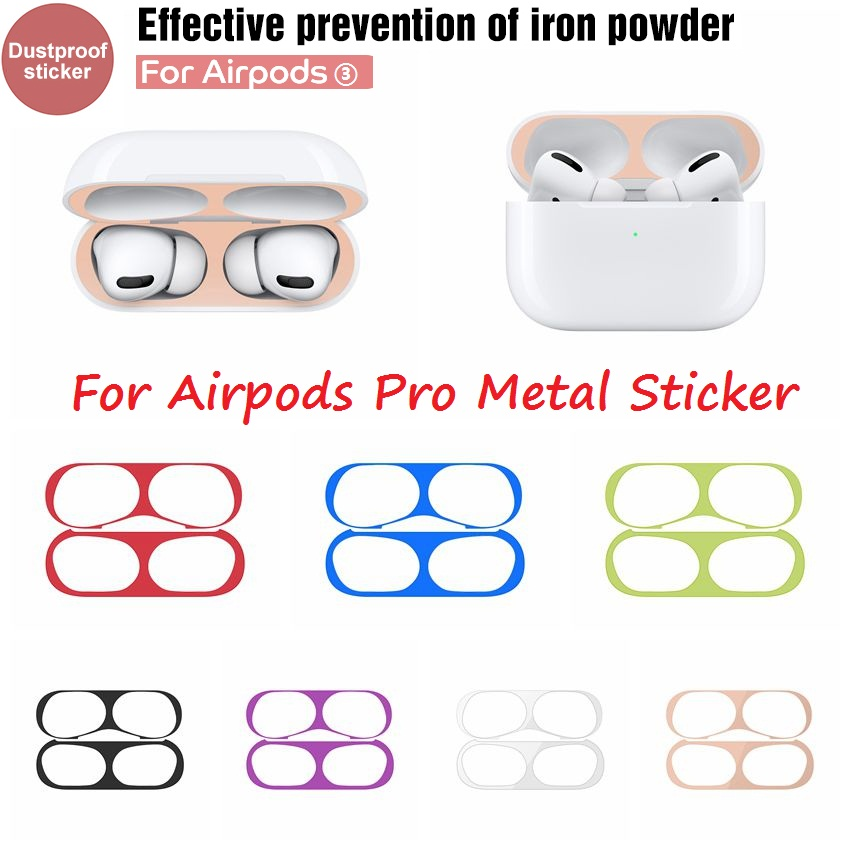 For Apple AirPods Pro Hot Sale Dust-proof Metal Dust Guard Sticker For Air Pods 3 Protective Sticker Skin Protector