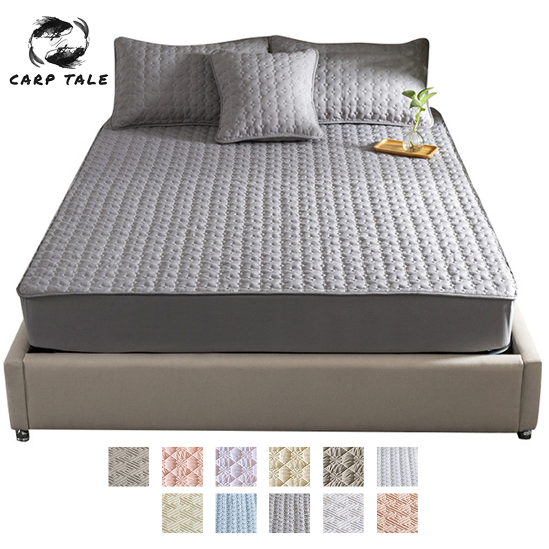Thicken Bed sheet 100% cotton quilted Sheet Bedding Linens With Elastic Band Dust Proof Mattress Protector For Bed Anti-mite