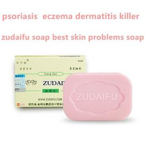 5 uds ZUDAIFU jabón de azufre para las condiciones de la piel acné, psoriasis Seborrhea Eczema Anti hongos crema de baño dermatitis antibacteriana