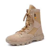 2019  Men's Desert Flock Canvas Military Tactical Boots Men Outdoor Combat Army Boots Botas Sapatos Masculino Big Size 39- 46 недорого