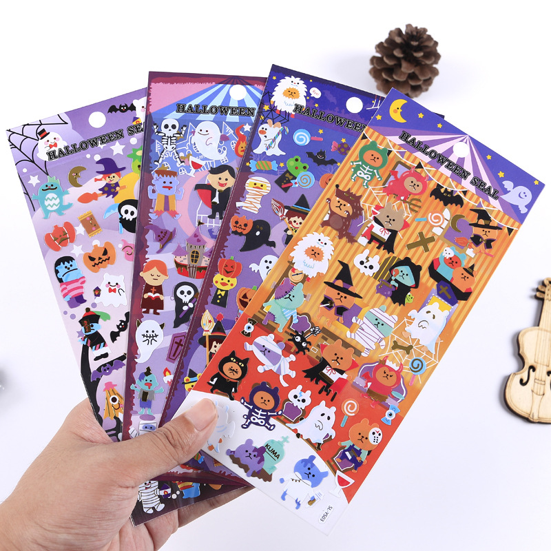 Fantastic Halloween Decorative Stickers Adhesive Stickers DIY Decoration Diary Stationery Stickers Children Gift