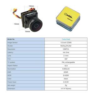 Image 5 - FPV Macchina Fotografica Caddx Turbo EOS2 1200TVL 2.1 millimetri 1/3 CMOS 16:9 4:3 Mini FPV Macchina Fotografica Micro Cam NTSC/PAL per RC Drone Accessori Auto
