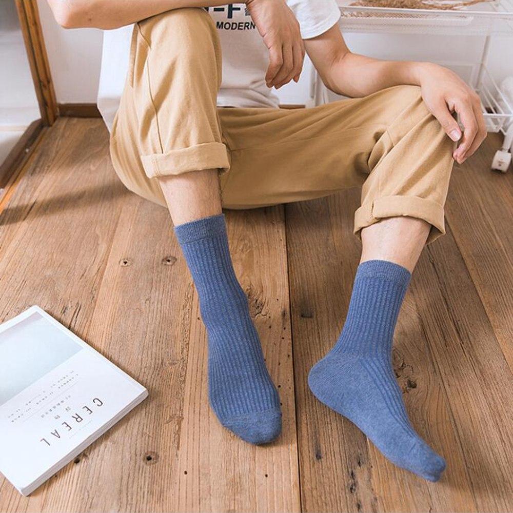1 Pair New Winter Socks Cotton Tube Men's Socks Wild Solid Color Breathable Sweat Men's Socks For Men Winter Clothing