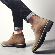 Chelsea Boots Men Suede Leather Luxury Men Ankle Boots Original Male Short Casual Shoes British Style Winter Spring Boot цена 2017