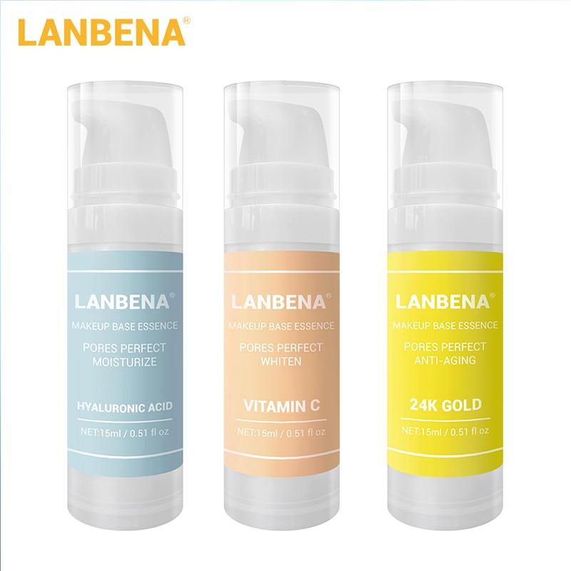LANBENA Makeup Base Essence Makeup Primer Face Serum Shrink Pores Moisturizing Oil-Control Brighten Smooth Face Foundation Gel