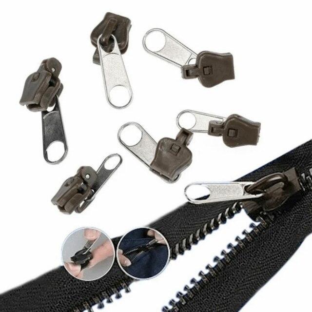 Instant Zipper  6 PCS/Bag Universal Instant Fix Zipper Repair Kit Replacement Zip Slider Teeth Rescue New Design Zippers For Sew