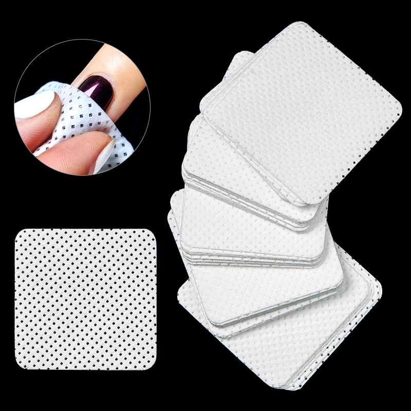 1 Pack Lint-Free Nail Polish Remover Cotton Wipes UV Gel Polish Remover Cleaner Paper Pad Nails Polish Cleaning Manicure Tools