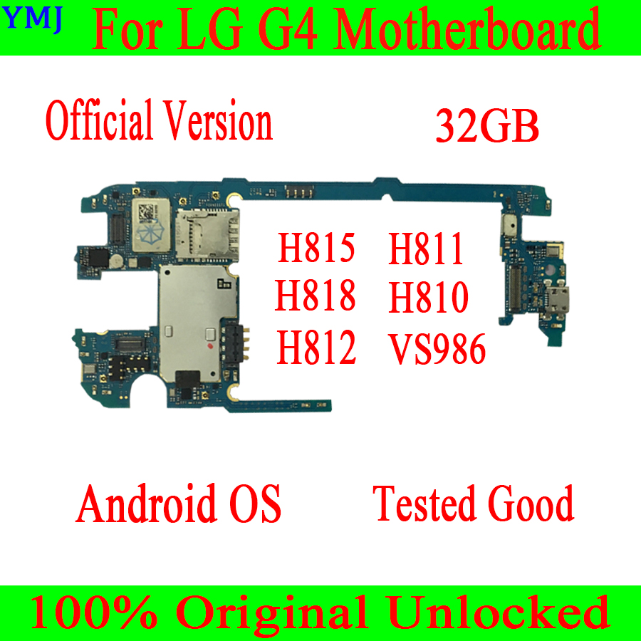 100% Original unlocked for <font><b>LG</b></font> G4 <font><b>H815</b></font> H811 H818 H810 H812 VS986 <font><b>Motherboard</b></font> 32GB for <font><b>LG</b></font> G4 <font><b>H815</b></font> Mainboard Good quality image