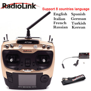 For RC quadcopter Helicopter Radiolink AT9S PRO 2.4G 12CH System Transmitter with R9DS Receiver AT9 Remote Control multilanguage(China)