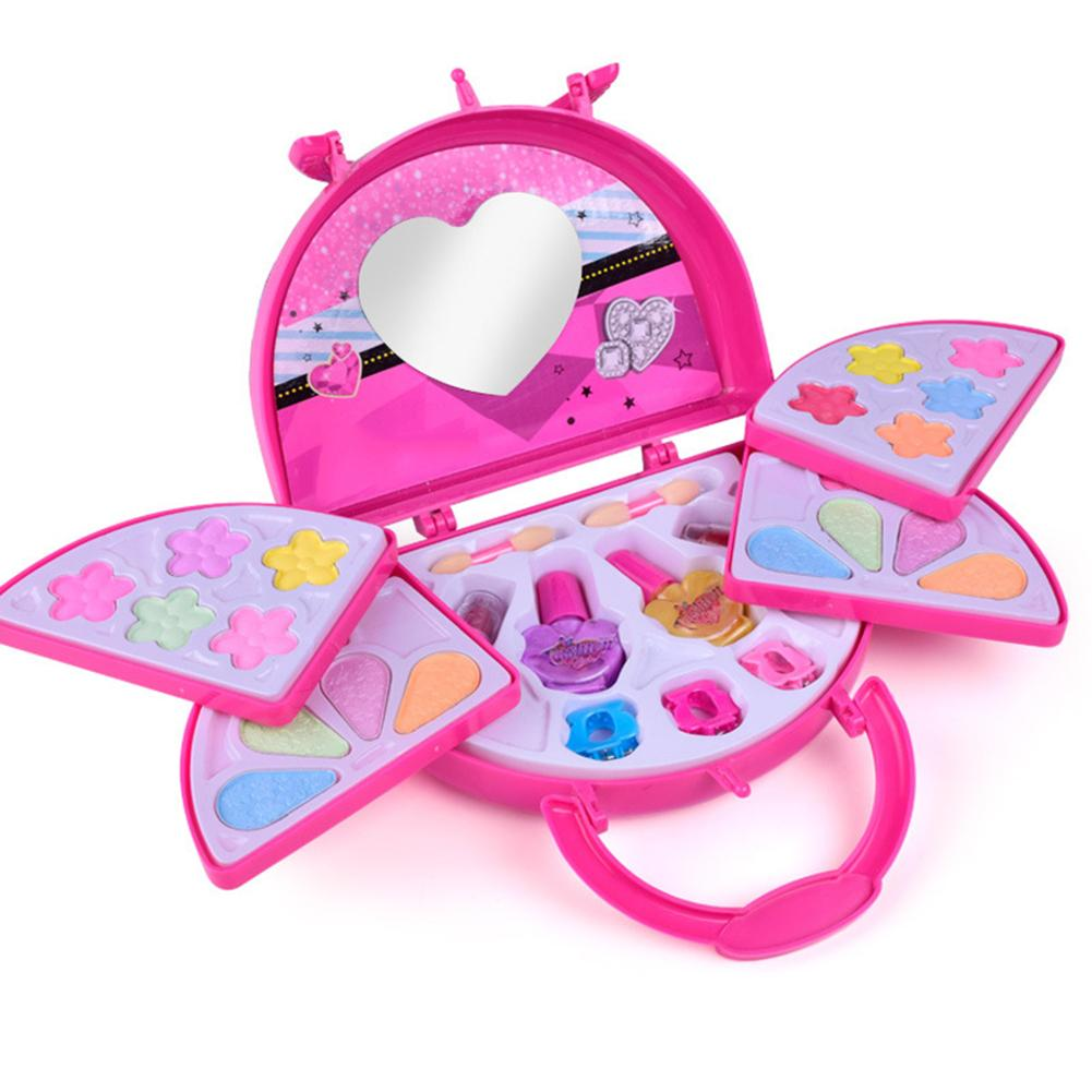 Girls Pretend Play Makeup Set Makeup Toys Set For Children Kids Princess Dress Up Princess Makeup Box Cosmetic Set For Kid