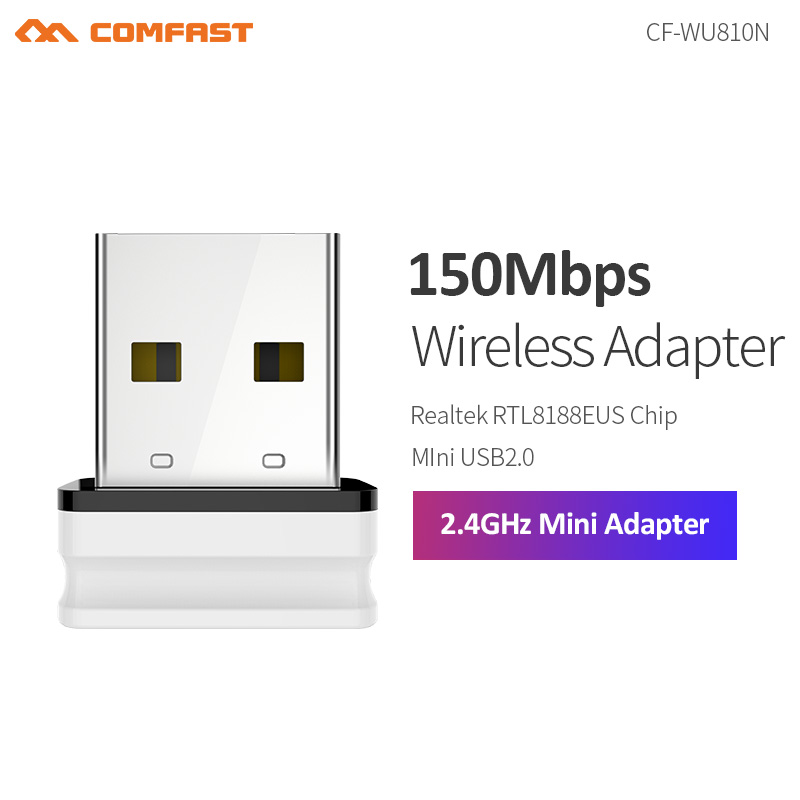 Wireless  Mini WiFi Adapter 150Mbps WiFi Receiver USB Wifi Antenna Realtek RTL8188EU 2.4G Wifi Dongle USB Wi-Fi Network Card