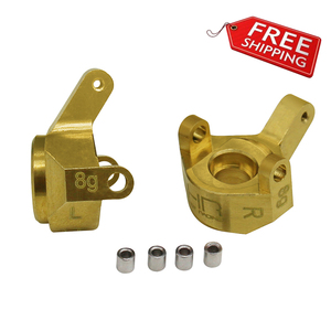 Hot Racing heavy duty brass SCX24 Worm gear Axles steering knuckles (steering blocks) for Axial SCX24(China)