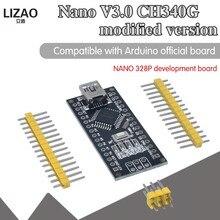 Wavgat nano mini usb com o controlador compatível nano 3.0 ch340 usb driver 12mhz nano v3.0 mesmo que atmega328p