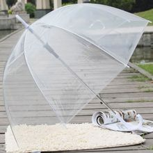 Fashion Transparent Clear Bubble Dome Shape Umbrella Outdoor Windproof Umbrellas Princess Weeding Decoration D08F