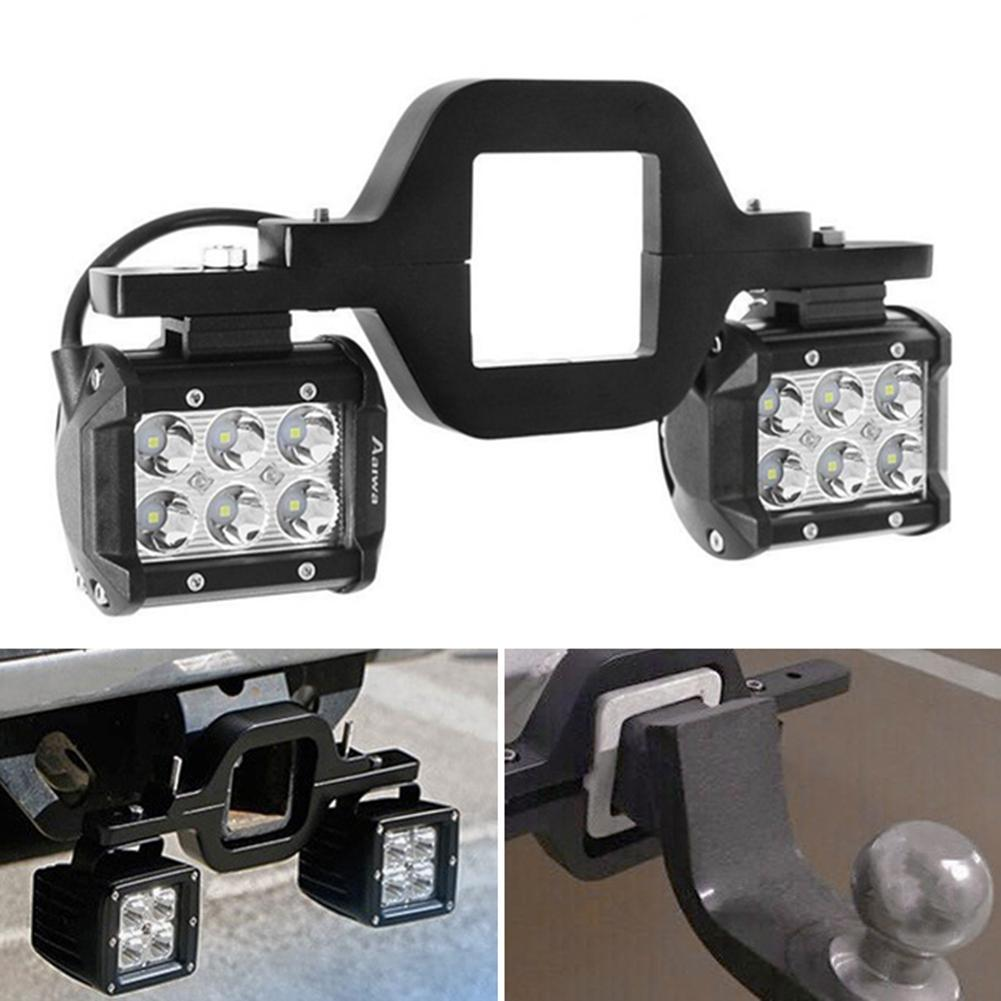Tow Hitch LED Reverse Rear Work Light With Mount Bracket For Off-road Wrangler