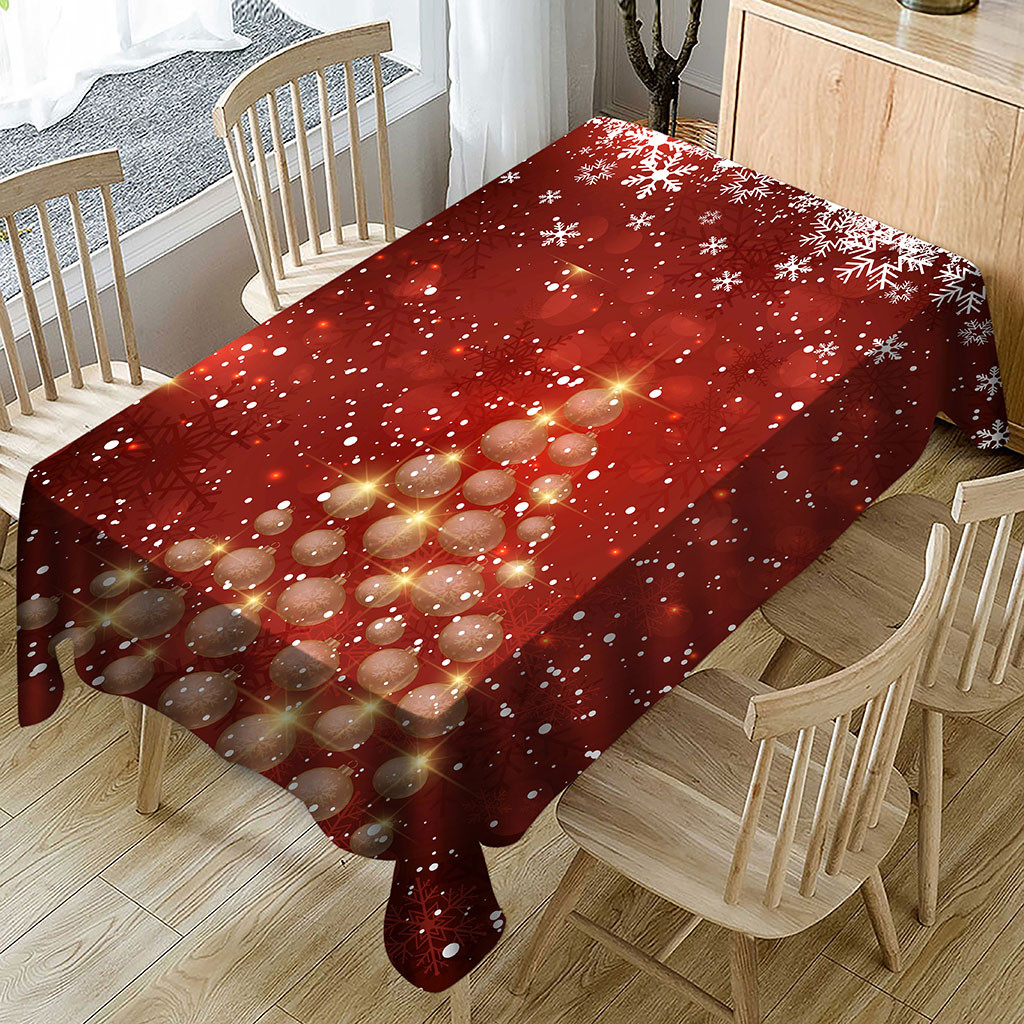 Christmas Tablecloth Rectangular Dining Table Cover Protector Acrylic 180x150cm For Dining Room Wedding Banquet Xmas Party