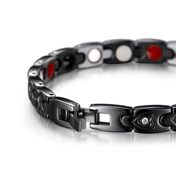 Bio Energy Stainless Steel Gnet Negative Ions Germanium Bracelets Jewelry 2