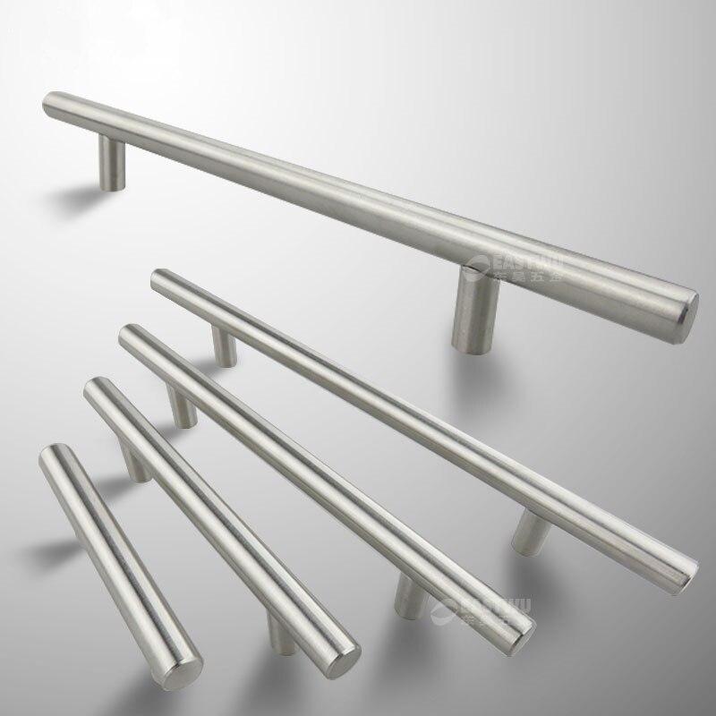 Çap 10mm paslanmaz çelik mutfak dolabı T bar kolu çekin topuzu 2