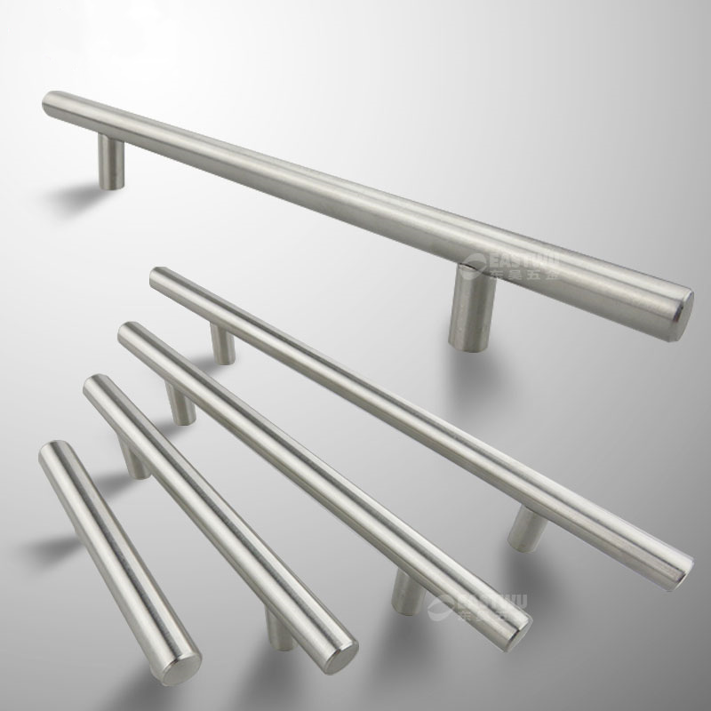 Diameter 10mm Stainless Steel Kitchen Door Cabinet T Bar Handle Pull Knob 2