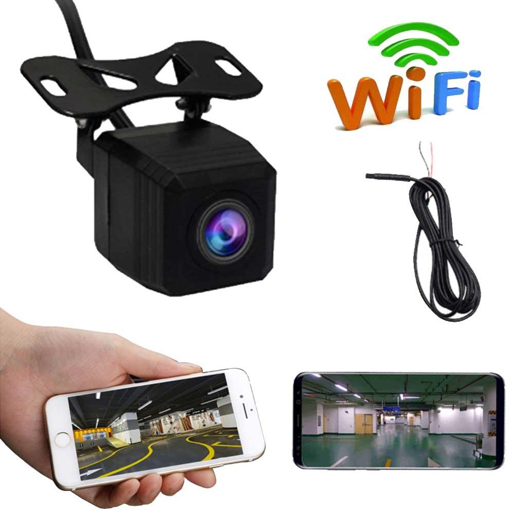 1280P bezprzewodowy samochód widok z tyłu kamera cofania WIFI wsteczna kamera z widokiem z boku Night Vision kamera na deskę rozdzielczą cofania dla IOS Android
