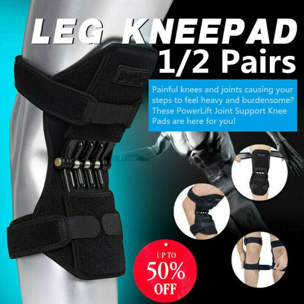 2Pcs Joint Support Knee Pads Knee Patella Strap Breathable Non-slip Power Lift Spring Force Knee Booster Tendon Brace Band