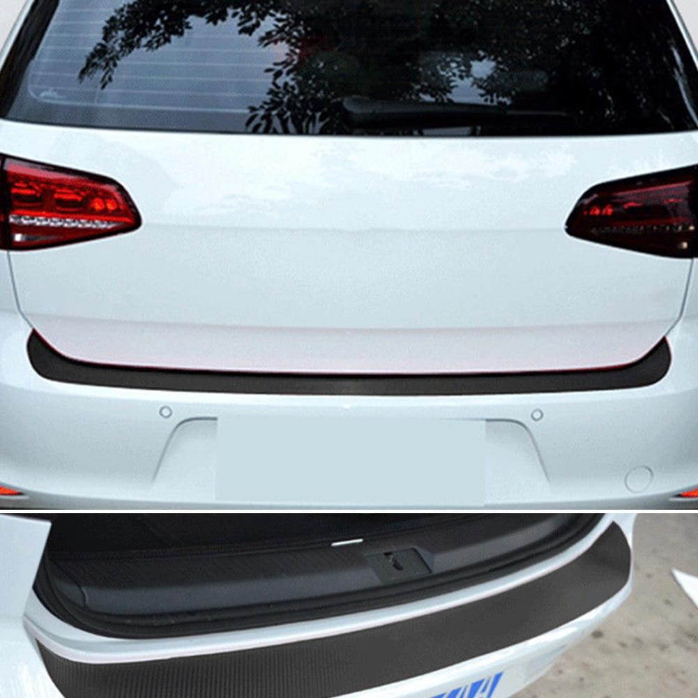 Image 3 - Car SUV Rear Bumper Sill Protector Plate Rubber Cover Guard Pad Moulding Trim Car DIY Rubber Pad Trim Anti Scratch Cover Strip