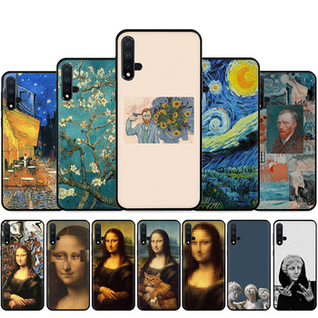 Great art aesthetic van Gogh Mona Lisa David Silicone Phone Case For Huawei Nova Lite 2 Lite 2i 3 3i 4 4E 5i 5T 7 7SE Back Cover image